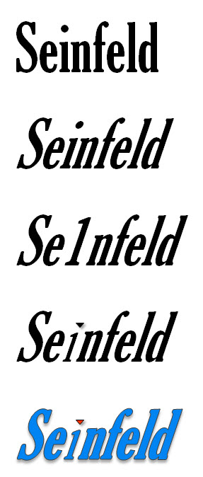 how to make the seinfeld font